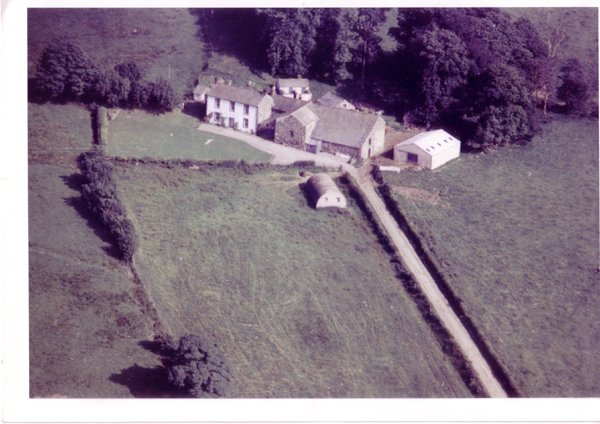 Aerial shot of Melbecks circa 1960
